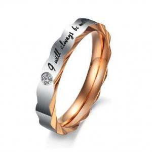 His & Her Matching Couple Ring Band..