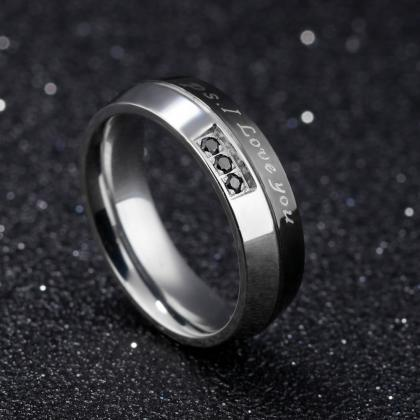 Couple Rings (2pc) - I LOVE YOU Eng..
