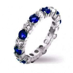Dazzling White Gold Filled Blue/Wh..