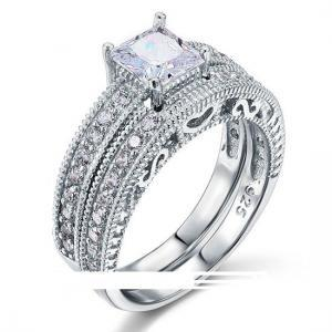 Victorian Art Deco 1Ct CZ Diamond S..