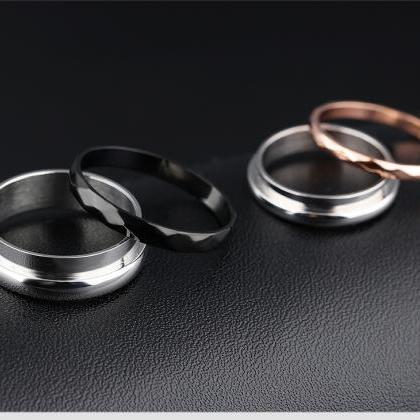2 in 1 Removable Titanium Couple Ri..