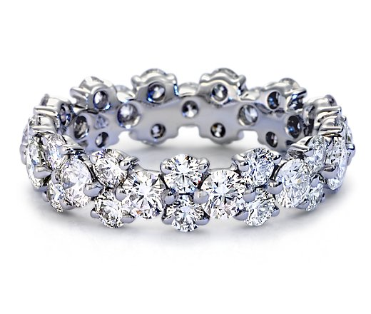 White Gold Filled (WGF) Sapphire Diamonique Wedding Ring Band - sizes 5 thru 10