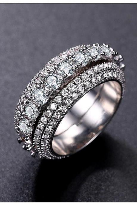 BEST SELLER - WGP Rotatable Ring in AAA Cubic Zirconia - avail in Sizes 6 thru 9 only