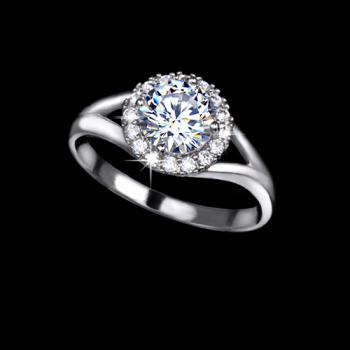 Classic 1.25 carat Swiss Cubic Zirconia Ring - available sizes 5.5, 6.5, 8, 9